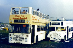 Slide 068-53 (Steve Guess) Tags: derby day epsom downs surrey england gb uk open top bus topper topless east lent bristol vrt willowbrook crosville flf white ecw