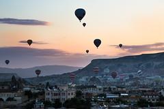 Hot Air Balloons at Sunrise over Goreme (tclemitson) Tags: hot turkey air balloon cappadocia goreme
