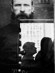 The Living and the Dead (Feldore) Tags: crumlin road gaol belfast victorian prison warder spooky ghost haunted portrait reflection woman northern ireland irish feldore mchugh em1 olympus 1240mm profile