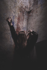 possession (Giorgia Cinelli) Tags: house black abandoned girl wall dark darkness hell creepy abandonedhouse horror devil possession abandonedchurch abandonedplace darkbeauty horrorplace horrorgirl