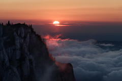 Above and beyond (George Pancescu) Tags: nikond d810 70200mm ceahlau massif romania europe mountain nature natural outdoor landscape scenery view sun sunrise morning clouds light horizon sky orange gold outstandingromanianphotographers