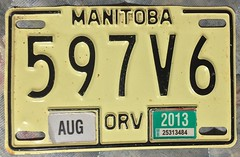 MANITOBA 2013 ---OFFROAD VEHICLE non-REFLECTIVE (woody1778a) Tags: manitoba offroad offhighway licenseplate canada mytraders mystery numberplate