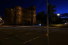 PortaNigra 022 (ollicrusoe) Tags: roman porta nigra trier trevis germany night available light trails