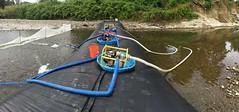Kiddie pools - not just for kids! (WSDOT) Tags: pilchuckriver sr92 riverbankerosion kiddiepools generators snohomishcounty granitefalls aquadam ko