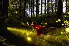 when will we go (lauren zaknoun) Tags: surreal surrealphotography surrealist surrealism fairytale nature forest conceptual conceptualphotography trees fireflies girl