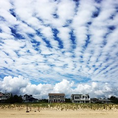 Middlesex DE ~ cool clouds at the beach (karma (Karen)) Tags: middlesex delaware beaches oceans houses clouds squared instagram iphone topf25