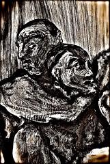 "Painting, one of several: ""Nazis in captivity"" (THE ART OF STEFAN KRIKL) Tags: art brutalities holocaust murderers nasty nazis postelberg postoloprty prisoners sickos"