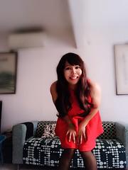 When girls have fun.  (xiaostar01) Tags:     reddress kawaii boytogirl mtf crossdresser