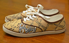 Harry Potter Shoes (4) (Chris Gent) Tags: harrypotter maraudersmap hogwartsschoolofwitchcraftandwizardry shoes magical document remuslupin moony peterpettigrew wormtail siriusblack padfoot jamespotter prongs