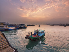 West Kowloon Waterfront Promenade (mikemikecat) Tags:  west kowloon waterfront promenade people olympusomd hong kong cityscapes house hongkong      evening       olympus lumix twilight colorful sunset dusk boat magicmoment