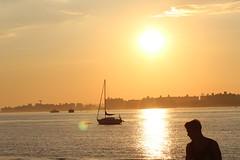 Sunset - Jamaica Bay (cgnss13) Tags: breezypoint breezy point queens new york newyork newyorkcity city jamaicabay jamaica bay brooklyn silhouette water sky sunset people