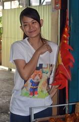 pretty woman with unusual t-shirt (the foreign photographer - ) Tags: sep252916sony pretty young woman cat supercat tshirt khlong thanon portraits bangkhen bangkok thailand nikon d3200
