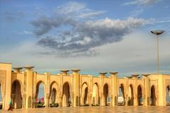 Casablanca Sky (David K. Edwards) Tags: arches sunset light morocco moroc mosque hassanii casablanca