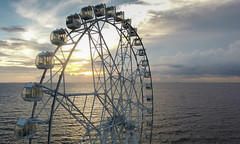 Ferris Wheel by the sea (PhotosThroughMyEyes) Tags: dji phantom 4 ferris wheel manila bay drone seascape ocean oceanscape clouds sunset travel vacation philippines