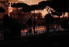 Rain and Rome (explore) (Robert Barone) Tags: micro43 panasonicgm1 piazzavenezia roma rome clouds commute rain storm foriimperiali italy italia umbrella sunset explore