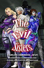 """The Evil Sisters"" Cover Promotional (CarlosHerreraJevc) Tags: wordpress flickr fanartsjevc jevcupeditions photoshop 2016 october14 theevilsisters horror wattpad historias oneshot tekken fandom deviantart ninawilliams annawilliams leechaolan vampires styles fotomontajes fanfics sisters evils"