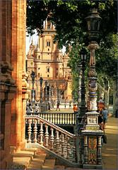 Plaza de Espana, Sevilla, Andalucia, Espana (claude lina) Tags: claudelina espana spain espagne andalucia andalousie ville town city sevilla sville architecture plazadeespana