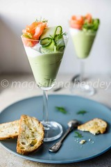 avocado mousse with smoked salmon and dill. (magshendey) Tags: foodphoto foodstyling avocado mousse green savoury salmon smoked fresh