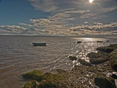 The Tide in at Gretna (penlea1954) Tags: gretna scotland uk sea shore beach rowing boat boats solway firth dumfriesshire dumfries galloway water ocean outdoor coast landscape seaside