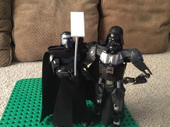 """Why is your datapad on a stick?"" (JD430w) Tags: funny lego funnylego kyloren darthvader starwars selfie"
