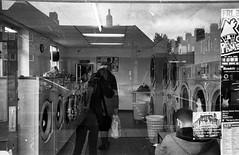 Launderette (munkt0n) Tags: leicasummicron35mmf20asph reflection leicam6 norwich launderette hp5 ilford film norfolk