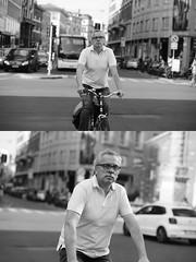 [La Mia Citt][Pedala] (Urca) Tags: milano italia 2016 bicicletta pedalare ciclista ritrattostradale portrait dittico nikondigitale mir bike bicycle biancoenero blackandwhite bn bw 89851