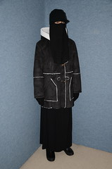 Perfect for hot summer days! (Buses,Trains and Fetish) Tags: slave niqab hijab burka chador girl sweat torture warm hot winter waitress maid anorak coat fleece