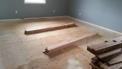 Wallkill Project #installed 1200sf ew flooring mach with existing flooring #Sanding #stain #Redoak #refinishing (floorandpaint) Tags: sanding refinishing redoak stain installed
