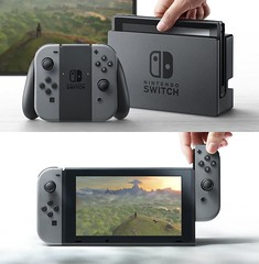 Nintendo Switch - Dock, Gamepad & Detachable Controllers (RS 1990) Tags: nintendo switch gaming system hybrid console handheld new videogame device electronic introduction 2010s