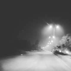 Finally, winter is here.   #winter #night #nightshot #longdrive #500 (Rahul Gaywala) Tags: instagramapp square squareformat iphoneography uploaded:by=instagram moon