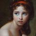 VIGÉE-LE BRUN Elisabeth,1792 - Julie Le Brun, en Baigneuse - Detail -b