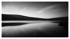 Dark Waters (picturedevon.co.uk) Tags: dartmoor nationalpark devon england unitedkingdom landscape fineartphotography blackandwhite minimalist reservoir monochrome le leefilter sky water clouds reflections countryside hills lake dam outdoors mono bnw bw