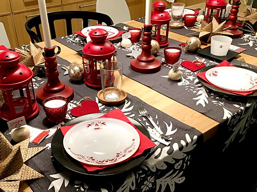Weihnachten: Tischdekoration