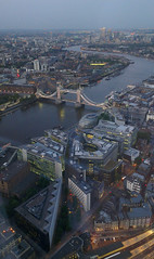 View from the Shard at sunset (Mark Skarratts) Tags: sunset england london thames towerbridge river morelondon theshard