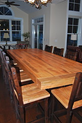 Two-Toned Rustic Carlisle Table (Brian's Furniture) Tags: two stain up table high boards hand counter chairs timber seat rustic rich edge 24 tall toned distressed carlisle tobacco ruff height built solid s2 planed sammon 1035 sawn planked 2thicktop