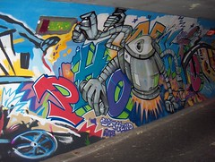 2009 (bdungeon76) Tags: art painting graffiti robot mural painted spray wal spraycan