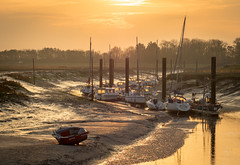 Sunset at Le Hourdel (cyril4494) Tags: sunset port de soleil coucher panasonic picardie baie 75mm gh4 desomme lehourdel