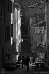 Siena Alley Afternoon (B&W) (JMichaelSullivan) Tags: italy 100v tuscany 600v siena toscana 200v 500v 300v 400v