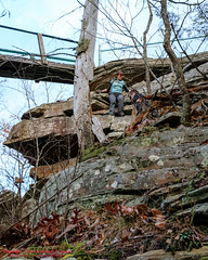 Twin Rocks Overblown (mikerhicks) Tags: usa fall geotagged photography unitedstates hiking tennessee milo cumberlandtrail springcity tennesseestateparks pineyriver edgewoodhills cumberlandtrailstatepark sigma18250mmf3563dcmacrooshsm canoneos7dmkii geo:lat=3570950500 geo:lon=8488316000 twinrocksoverlook lowerpineyriversection pineyriversegment
