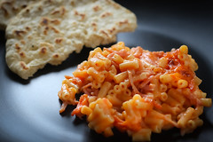 Pasta and Naan Bread (Brian_Petersen) Tags: food bread dof pasta naan canon50mm strobist canoneos7d