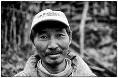 Yak man, Sikkim (benbw) Tags: india man sikkim goechala tsokha fujixpro1 fuji35mmf14