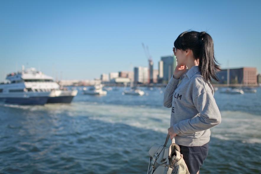休閒穿搭 boston long wharf