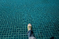 Walk on the water... (Syahrel Azha Hashim) Tags: travel light vacation holiday detail colors pool thailand hotel nikon shoes colorful dof getaway naturallight resort tokina clear swimmingpool tiles handheld shallow minimalism simple lemeridien chiangrai ultrawideangle d300s syahrel