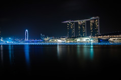 Marina Bay (giu.spad) Tags: new city eve travel roof water pool wheel marina reflections photography lights bay nikon singapore asia cityscape peace view nye calm resort years sands d300 spadaforaphoto