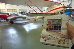 Museo del Aire (Fotero) Tags: hangar museo acuarela dibujo usk historia cuaderno aviacion cuatrovientos cuaderno3