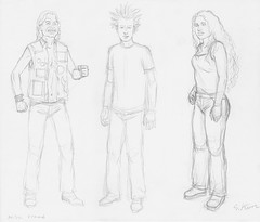 Metalocalypse - Dethklok Fans Signed Drawing (candoartist) Tags: animation dethklok metalocalypse productiondrawing