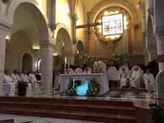 Missa a la església de Sta. Catalina, a Betlem