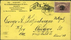 Envelope for Letter to George A. Katzenberger from Greenville to Chicago: 1893