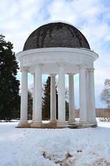 Mr. Madison's Temple (afagen) Tags: orange snow virginia montpelier jamesmadison montpelierstation jamesmadisonsmontpelier