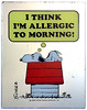 "Snoopy ""I think I'm allergic to morning!"" 1958 Vintage Mirror Collectible (candoartist) Tags: vintage mirror schultz snoopy animation collectible mondays animationart"